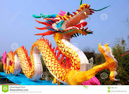chinese traditional colorful dragon lantern royalty free stock