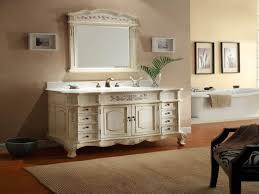 bathroom gorgeous white painted country bathroom vanity with