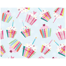 wrapping paper cupcake birthday wrapping paper whistlefish