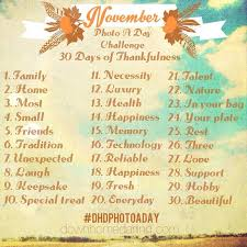 november photo a day challenge 30 days of thankfulness by