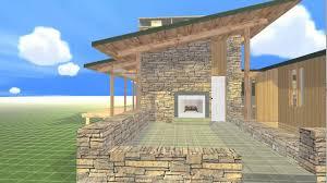 beautiful beach house floor plan rendered in 3d youtube