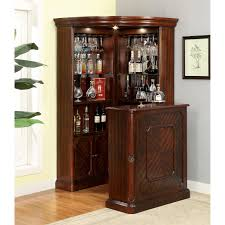 eci manchester home bar with optional hutch distressed walnut