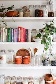 Kitchen Shelves Decorating Ideas Kitchen Best Kitchen Shelf Decor Ideas On Pinterest Shelves Open