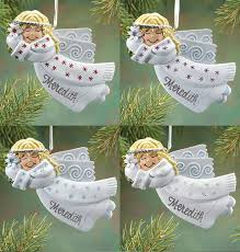 personalized birthstone ornaments personalized birthstone angel ornament christmas exposures