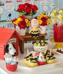 snoopy and friends for baby shower theme decorations decolover net