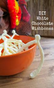 make diy white chocolate wishbones for a new thanksgiving