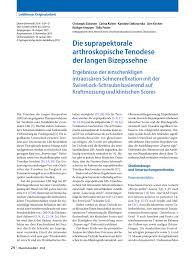 Wellmann K Hen Die Suprapektorale Arthroskopische Tenodese Der Langen Bizepssehne
