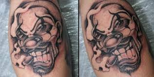 clown smoking cigar black and white tattoo tattoos pm