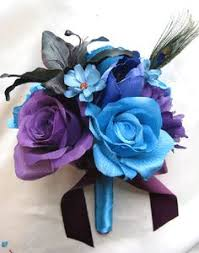 Purple And Blue Flowers Royal Blue And Royal Purple Wedding Google Search Dream
