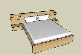 Platform Bed With Nightstands Attached Sketchup Components 3d Warehouse Bed Platform Bed With Nightstands