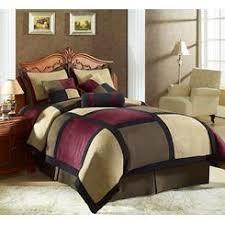 Patchwork Comforter 7pcs Full Avenue Micro Suede Comforter Set