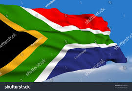 African Flag South African Flag Waving On Wind Stock Illustration 41846737