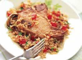 cuisiner coeur de porc casserole de côtelettes de porc et de riz recette plaisirs laitiers