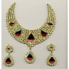 red gold jewelry necklace images Red gold jewellery set buy in jaipur jpeg