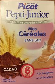 cuisine sans lait picot mes céréales sans lait cacao 300g