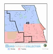 Chicago Wards Map by Garbage Collection Ward 49