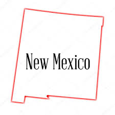 new mexico state outline map u2014 stock vector bigalbaloo 59210443