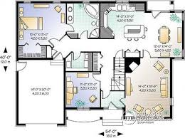 modern bungalow floor plans house plan w2605 detail from drummondhouseplans com