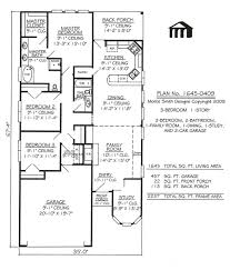 Single Story House Plans Without Garage by Narrow Lot Apartments 3 Bedroom Story 3 Bedroom 2 Bathroom 1