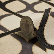 B Q Home Decor by Gold Geometric Wallpaper Diy