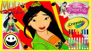 disney princess mulan crayola color number princess