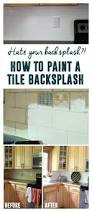how to paint a tile backsplash painted tiles kitchens and house