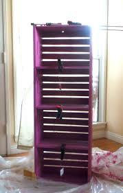 Purple Bookcase Diy Wood Crate Bookcase Lowescreator Sassy Mama In La