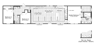 triple wide floor plans triple wide mobile home plan awesome the santa ff16763g