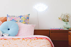 bedroom compact bedroom neon lights bedroom scheme simple bed
