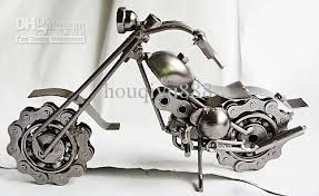 2017 iron furniture metal crafts motorcycle ornaments personalized