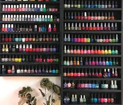 on display 11 ways to organize nail polish in the salon