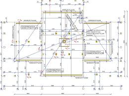 floor foundation and plumbing plan villa linnea