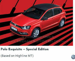 volkswagen to launch polo exquisite u0026 vento highline plus editions