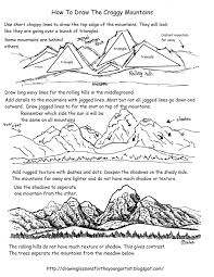 How To Draw Landscapes by Easy Drawing Lessons And Worksheets For The Beginning Artist