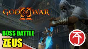 film god of war vs zeus god of war ii boss battle kratos vs zeus youtube