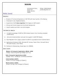 Sap Abap Sample Resumes by Job Resume Trainer Resume Template Trainer Cover Letter 57