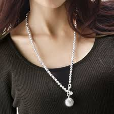 solid sterling silver necklace images Sterling silver ball chain necklace necklace jpg
