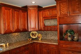 sleek and sophisticated cherry kitchen cabinets with cherry