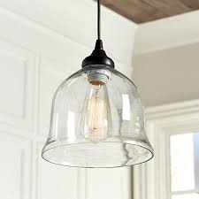 glass bell pendant light clear glass bell pendant ballard designs new house ideas