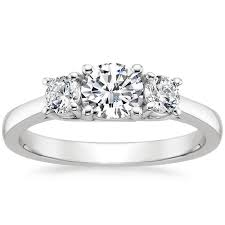 three engagement ring setting brilliant earth