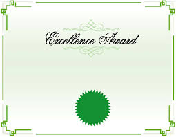Free Certificate Of Excellence Template Excellence Award Certificate Template