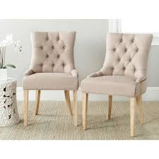 safavieh abby taupe linen side chair set of 2 mcr4701j set2