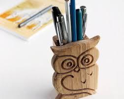Desk Pen Holder Wood Pen Holder Etsy