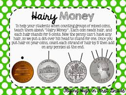 hairy money a great idea for teaching how to count mixed coins