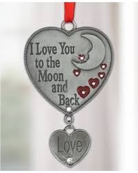 amazing deal on i you to the moon and back ornament