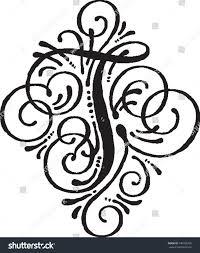 monogram letter t letter t monogram stock vector 445768765