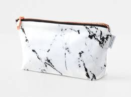 makeup bag makeup bag white marble make up bag pencil gold