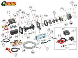mile marker winch parts diagram pertaining to q9000 winch