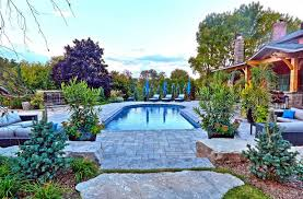 swimming pool landscape ideas with small pool stone decks small