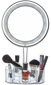 Round Bathroom Mirror by Amazon Com Daisi Magnifying Lighted Makeup Mirror With Cosmetic